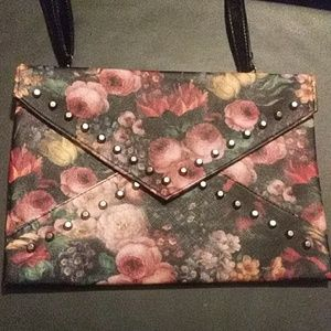 Floral Clutch/Purse With Studs
